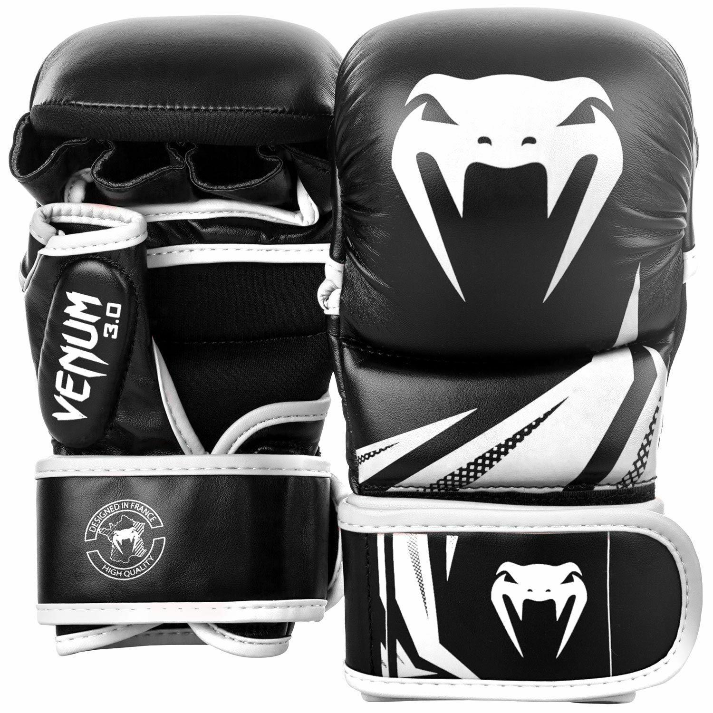 Venum Herausforderer 3.0 Sparring Handschuhe Schwarz Weiß Weiß Weiß Kampftraining 97b80a