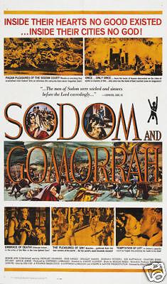Sodom /& Gomorrah Stewart Granger vintage movie poster