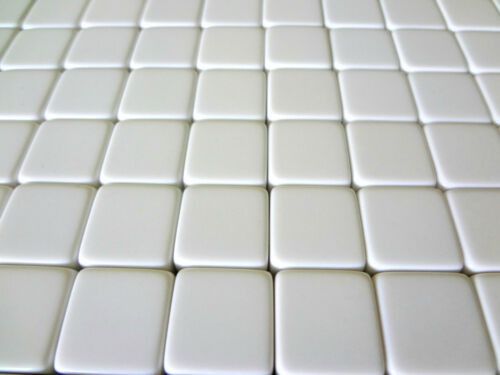 Counting Cubes 16mm 16 mm D6 Square Gaming Casino Lot of 25 Blank White Dice