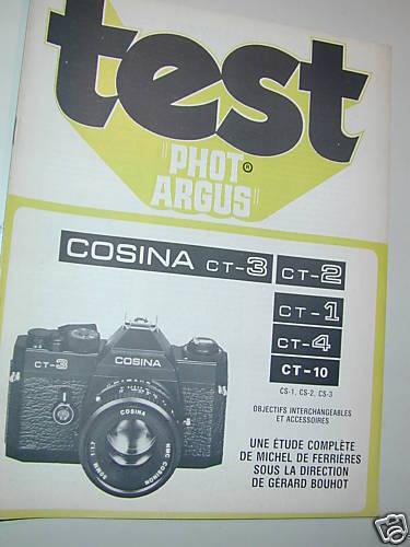 TEST PHOT ARGUS COSINA CT1 2 3 4 10  en français photo photographie