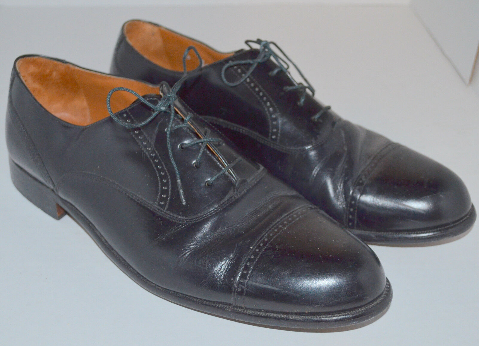 Bostonian Leather 20350 Classics Akron Flex Cap Toe Dress Oxfords Men's 14 M