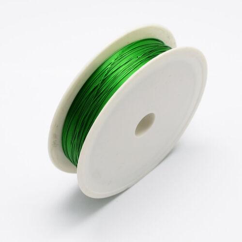 Alambre de Hierro Verde 1 Rollo 0.5mm Aprox 7m//Rollo De Cable De Alambre De Acero fabricación de joyería hágalo usted mismo