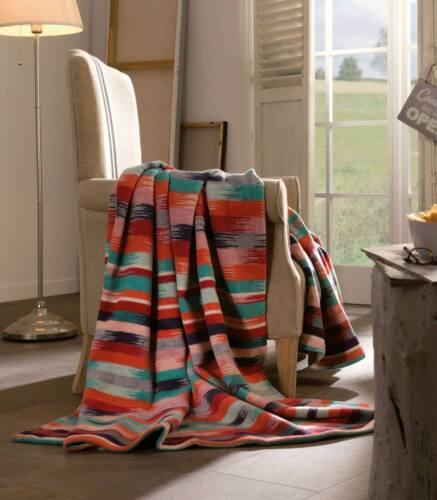 IBENA Deluxe Southwestern Jacquard Woven Cotton// Merino Wool Throw Blanket Aztec