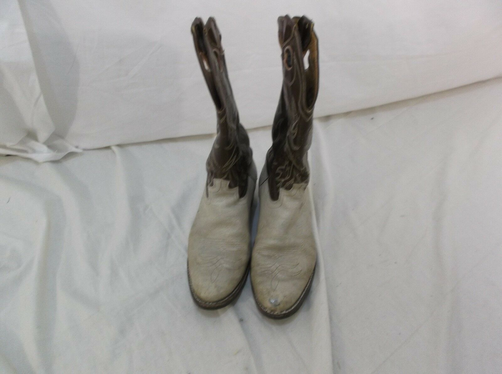 Justin Western Cowboy Style Boots Fort Worth Texas Men's 9 D 140155