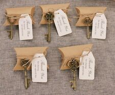 50 Wedding Favors Candy Boxes w Mixed Skeleton Key Shaped Bottle Openers Tags BZ