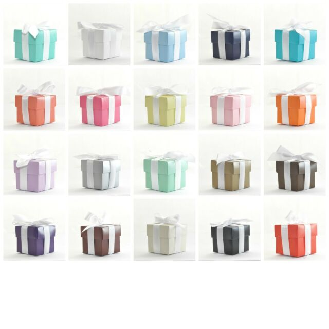 "Luxury Colour Lined Wedding Favour Boxes With Lids ""The Cheapest on Ebay!"""