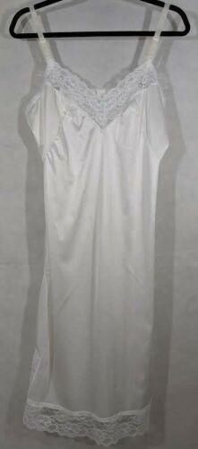 Vintage Slip White Lace Full 36 Vtg Lingerie Under