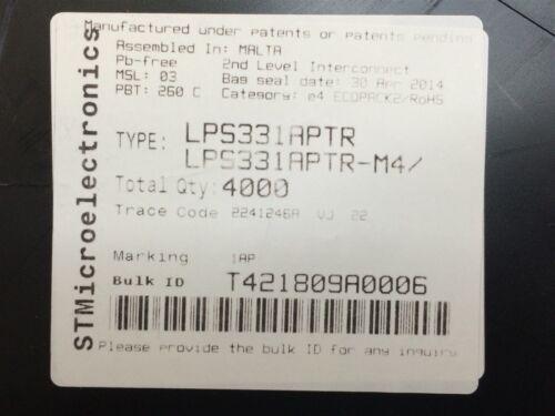 LPS331APTR ST MICRO IC PRESSURE SENSOR PIEZO 16HCLGA ROHS 10 PIECES