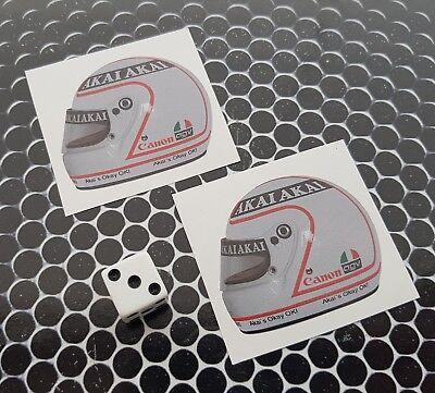 """MONACO Principato Scudi Adesivi in Vinile per Auto-Casco 75mm Stickers x2 3/"""""""