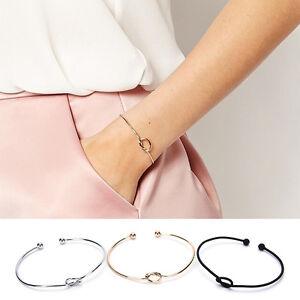 Fashion-Elegant-Chic-Women-Knot-Adjustable-Bracelet-Bangle-Chain-Jewelry-Gift-OZ