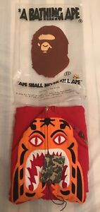Tiger authentic Red Hoodie Ds Bape Uk Og 2007 YBqwZd1