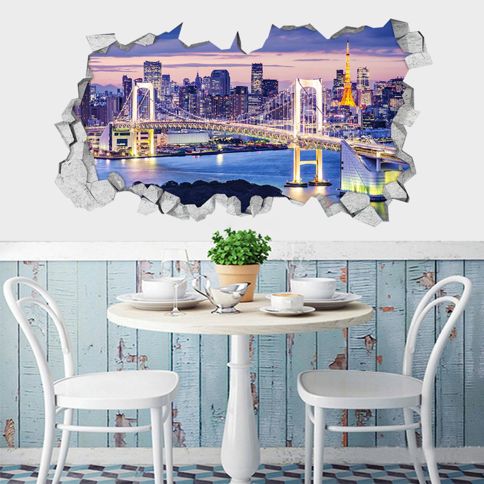 3D City nacht 65 Mauer Murals Aufklebe Decal Durchbruch AJ WALLPAPER DE Lemon