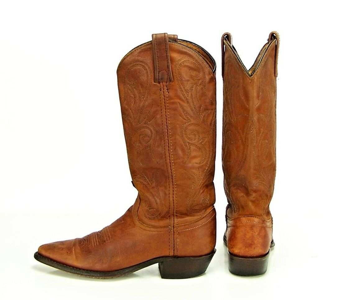 Dan Post Women's Size 6 M Brown Leather Western Style Cowboy Cowgirl Boots USA