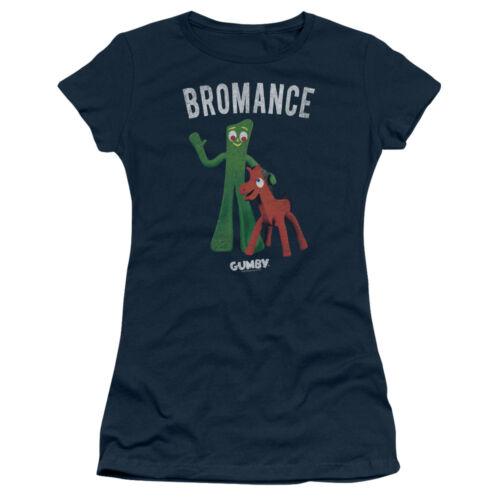 Gumby BROMANCE Licensed Juniors Cap Sleeve T-Shirt