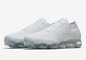 14965943e487 Image is loading Nike-Air-Vapormax-Flyknit-Triple-White-Size-14-