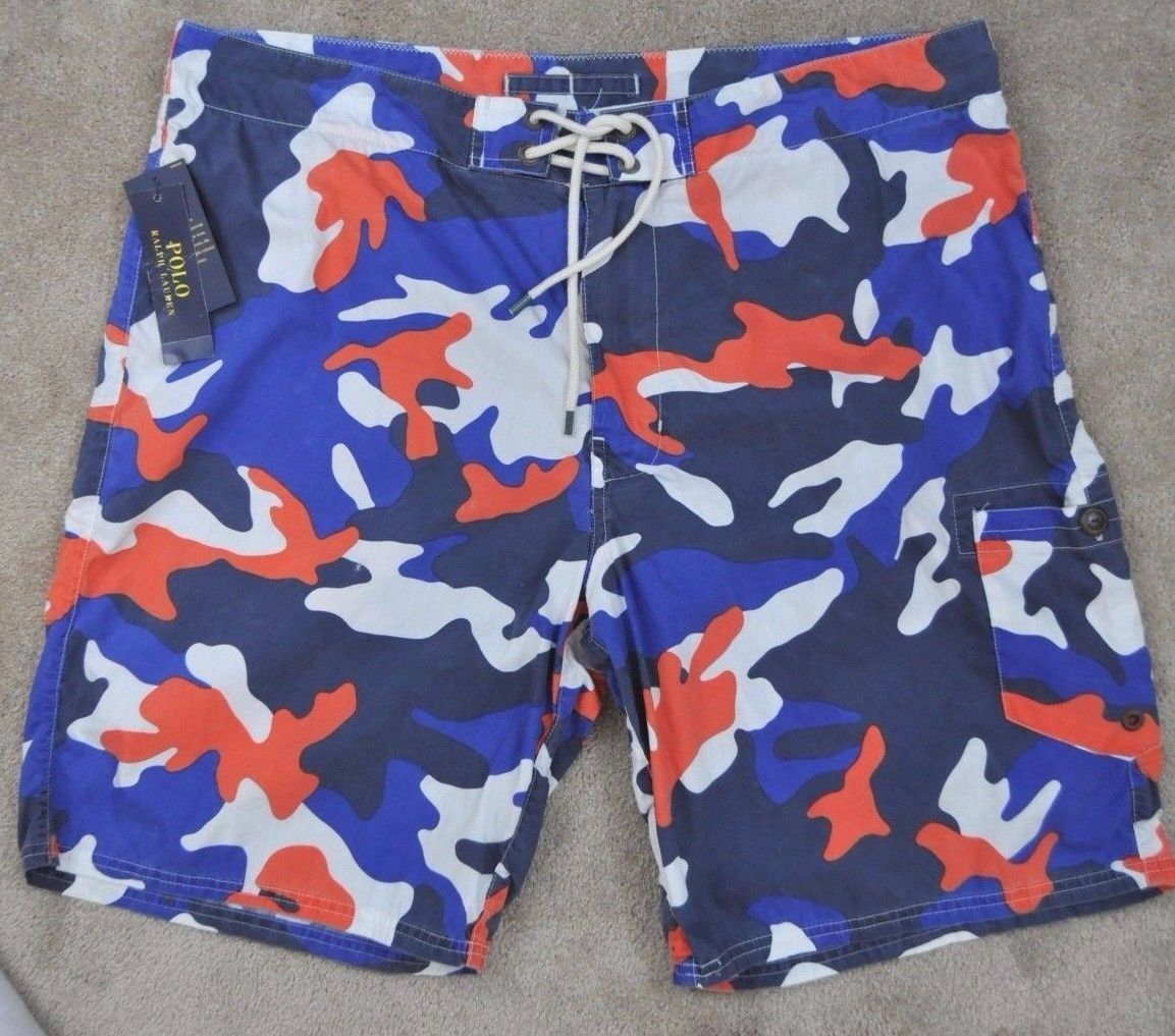 POLO RALPH LAUREN men's Shelter Island CAMOUFLAGE SWIM SHORTS Trunks size 38 nwt