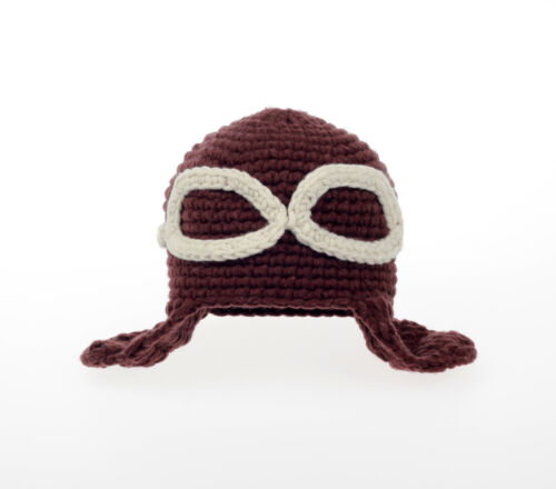 Aviator hat newborn photo prop newborn boy girl baby knit crochet hat cap beanie