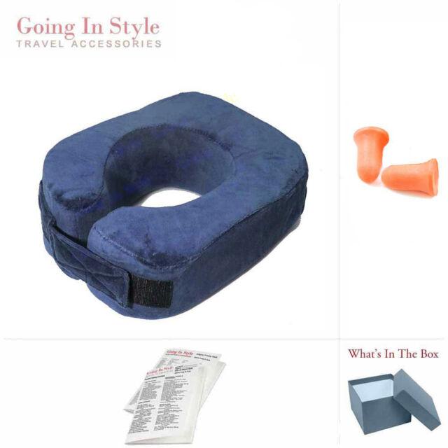 Komfort Kollar Memory Foam Travel Neck Pillow w/ Earplugs Set | Going In Style