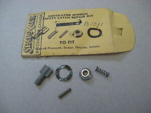 Image is loading VENT-WINDOW-LATCH-REPAIR-KIT-1940-48-DESOTO- & VENT WINDOW LATCH REPAIR KIT 1940 -48 DESOTO CHRYSLER DODGE PLYMOUTH ...
