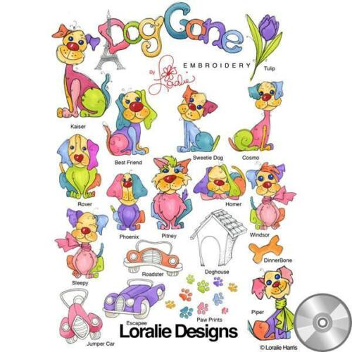 Dog Gone! Machine Embroidery Design Collection Compact Disc