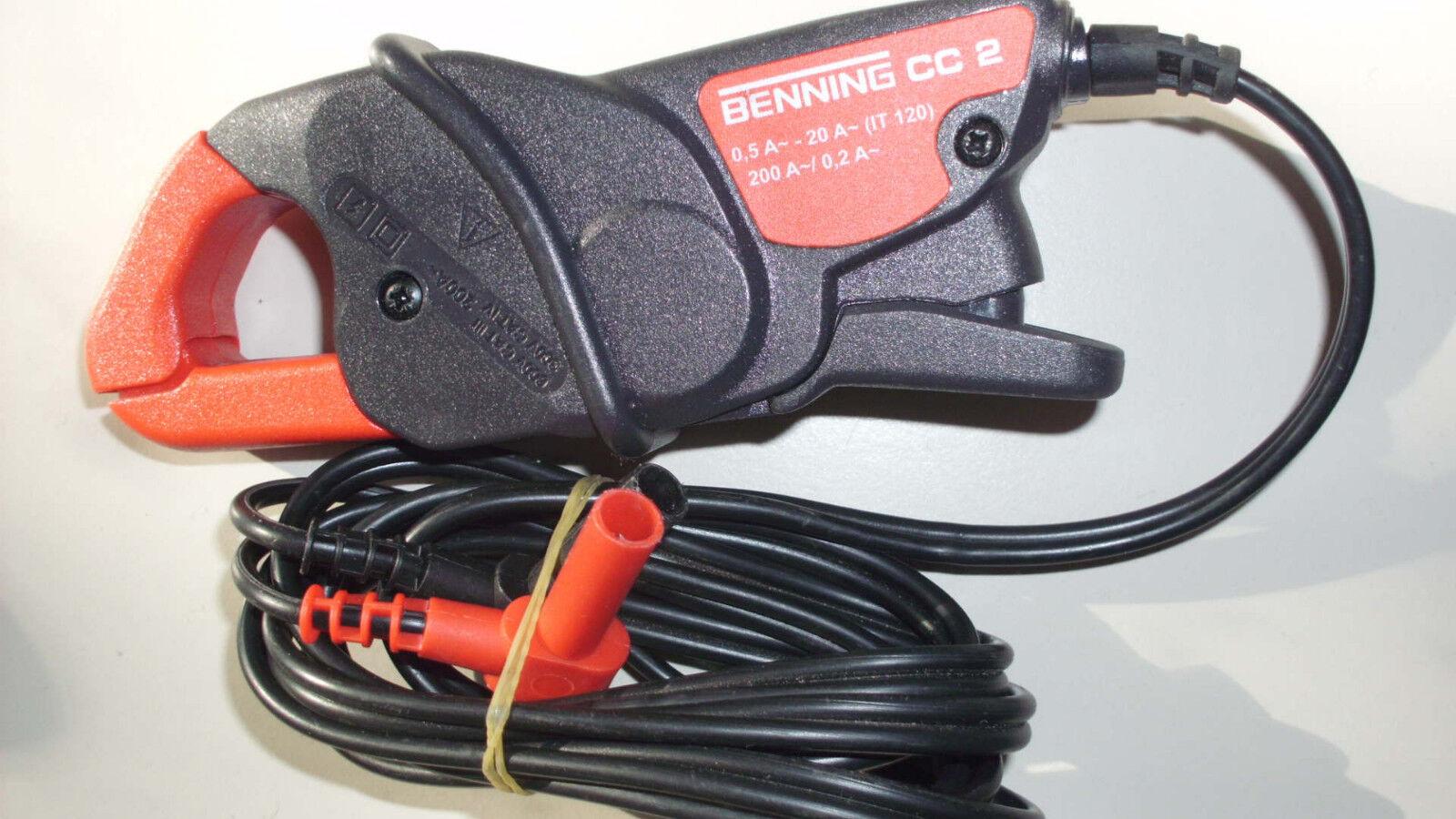 Stromzangenadapter 1 A - 200 A AC Zangenöffn.max. 21 mm inkl. Messleitungen CC 2