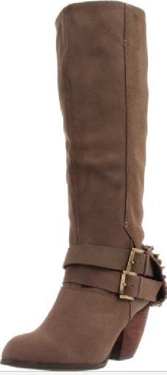 NIB  170 Naughty Monkey MIX MASTER Taupe STUDDED Boots Womens 9 M