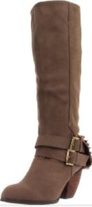 NIB  Naughty Monkey MIX MASTER Taupe STUDDED Boots Womens 9 M