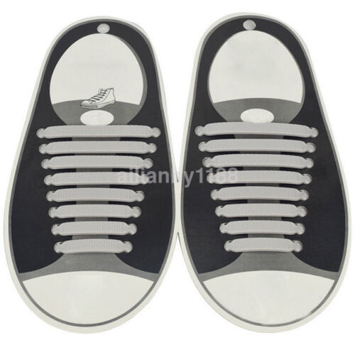 No Tie Shoelaces Elastic Silicon Shoe Laces For Running Jogging Canvas Sneakers
