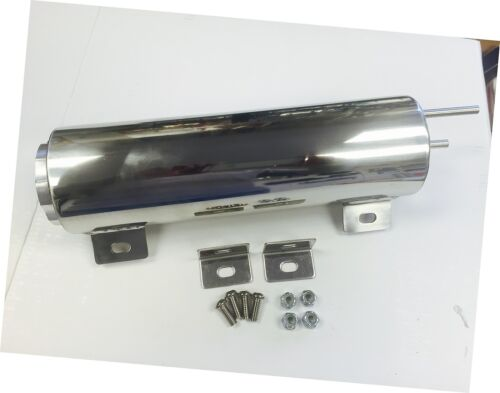 55-57 Chevy Stainless Steel Over Flow Tank 3x10 30oz Radiator Polished NEW