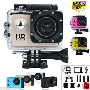 1080P HD Video Camcorder Sports Action Camera Video DVR DV Cam Bike Waterproof 616919663412