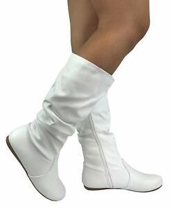 New White Round Toe Slouchy Women