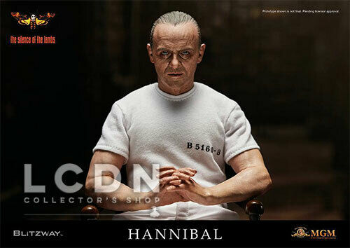 colores increíbles The Silence of the Lambs Hannibal Lecter Lecter Lecter blanco Prison Uniform ver. 1 6 Blitzway  auténtico