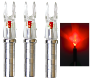 Nufletch Archery Ignitor Lighted .244//.246 Red Nock S//GT Nock Arrows