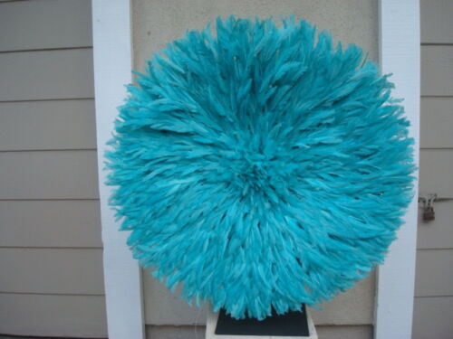 """Juju Hat Quality African Feather Headdress 1st 32/"""" Lt Turquoise"""