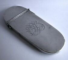 A rare George I silver spectacles case, c.1720 engraved with a fine cypher