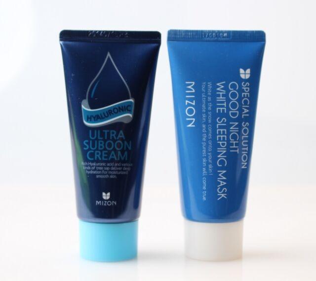 (1+1) Mizon Hyaluronic Ultra Suboon Cream + Good Night White Sleeping Mask Set