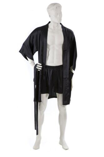 M Corto Nero 100/% seta signori superior NATURALS ® Kimono-Pigiama