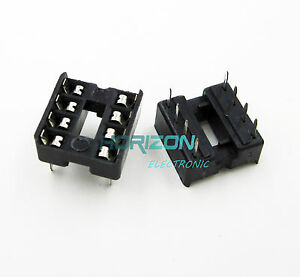 100pcs-8-Pin-Dip8-Circuito-Integrado-Ic-sockets-Adaptador-soldadura-tipo