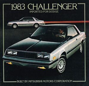 1983 Dodge CHALLENGER Brochure / Catalog with Color Chart: TECHNICA ...