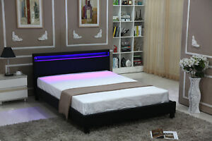 Image Is Loading QUEEN SIZE Modern Bed Frame Bedroom Platform W