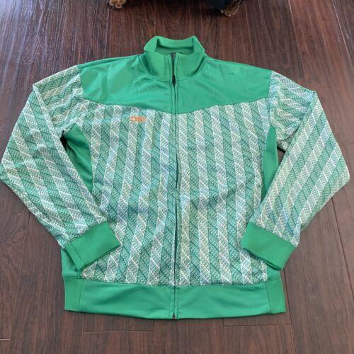 Rare Umbro Athletics Men's Ireland Green Zip Up Ja