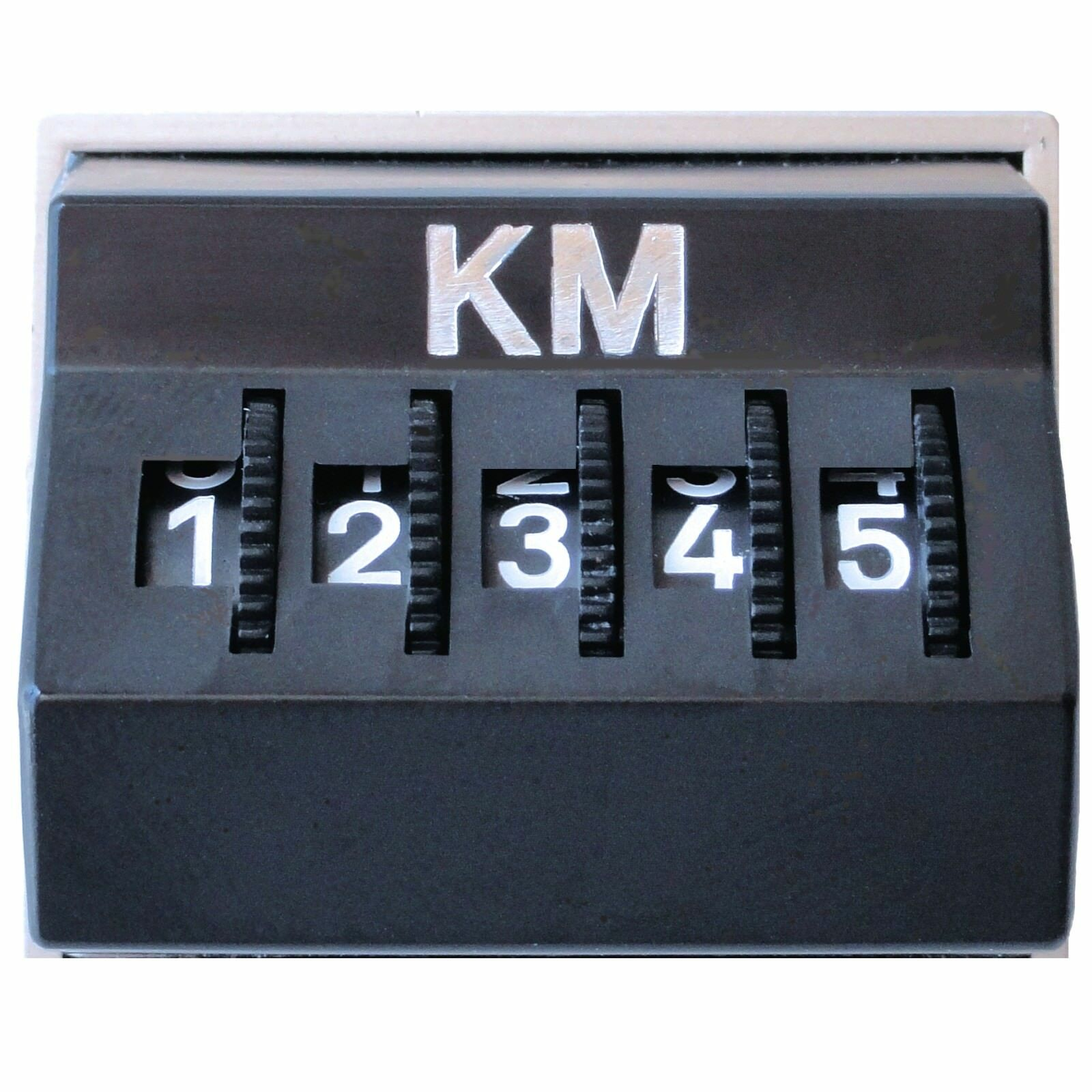 Bild 1 - Kilometerzähler Kilometermerker Kilometer KM Zähler original 1977 HR / RICHTER
