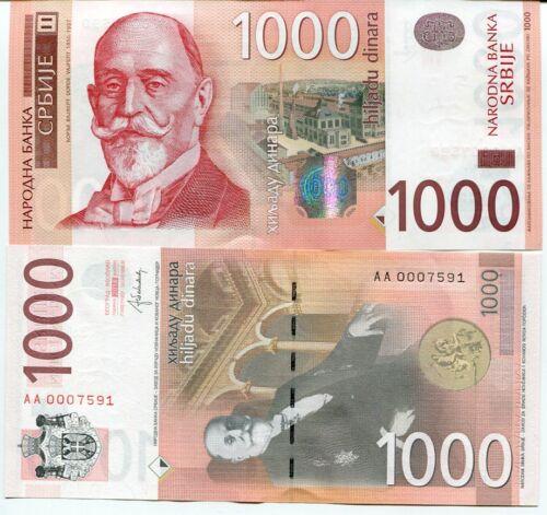 SERBIA 1000 1,000 DINARA 2014 P 60 UNC