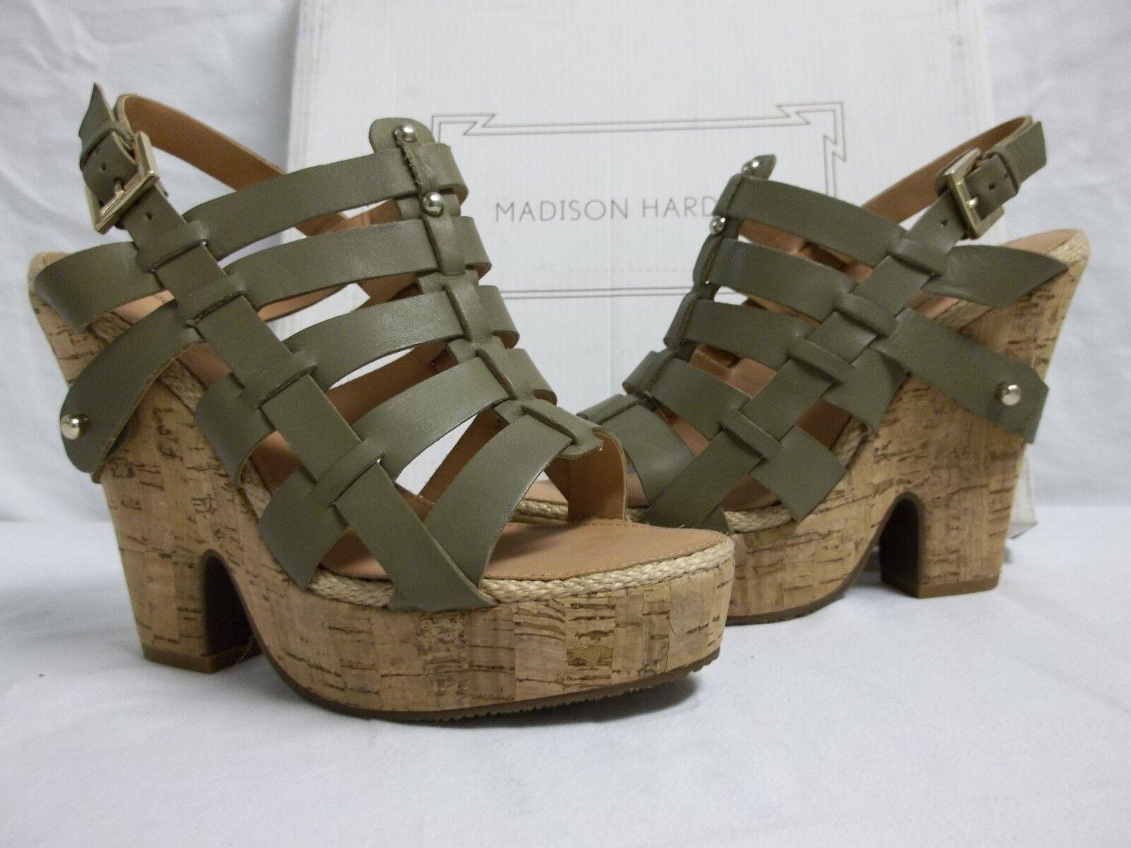 Madison Harding Größe 7 M Bobie Army Open Toe Heels NEU Damenschuhe Schuhes