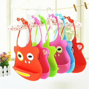 ... Food Catcher Bib in 3 colours  sale c982f acb49 Image is loading  Lovely-New-Baby-Kids-Feeding- ... 8d8683774