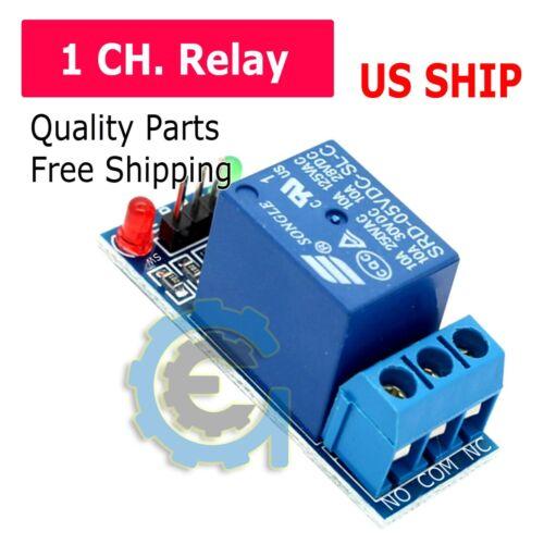 1 Canales Relé Módulo de placa de interruptor DC 5 V para Arduino Raspberry Pi Pic brazo