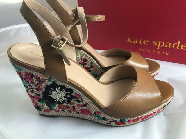 a491baba603f Frequently bought together. Kate Spade Jardin Light Brown Soft Goat Wedge  Shoes ...