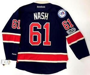 RICK NASH NEW YORK RANGERS REEBOK PREMIER THIRD JERSEY NHL 100 ... 0f2b60ce7
