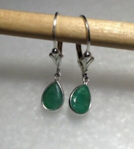 Sterling-Silver-Pear-Cut-Natural-Emerald-Dangle-Lever-Back-Earrings-1-55CTW