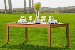 122 RECTANGLE TABLE - A GRADE TEAK WOOD GARDEN OUTDOOR DINING FURNITURE PATIO